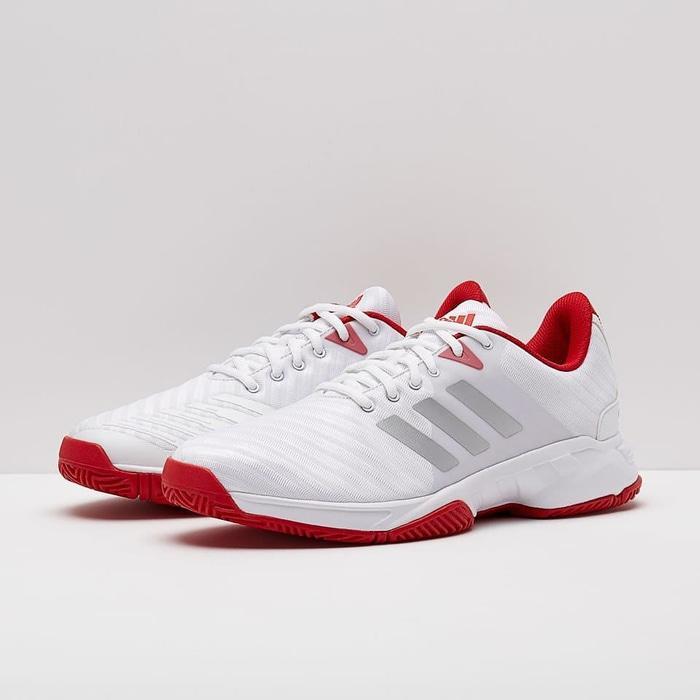 Sepatu Tennis Adidas Barricade Court 3 - White/Red Original