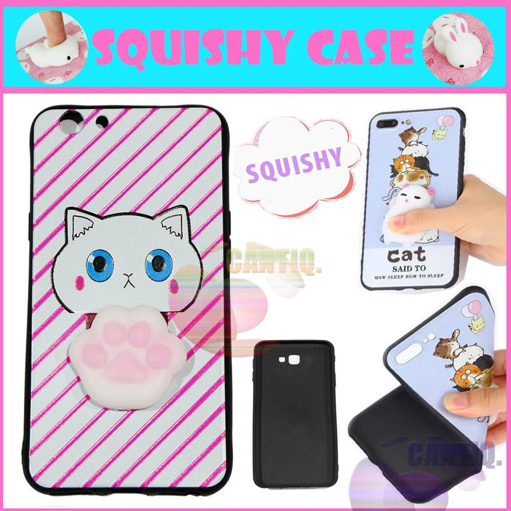 Icantiq Squishy Case Oppo F1S A59 Squishy Cute Cat Pink Horizontal Line / Silikon 3D Squeeze Oppo A59 / Softcase 4D Silikon Oppo F1S A59 Case Squisi Boneka ...