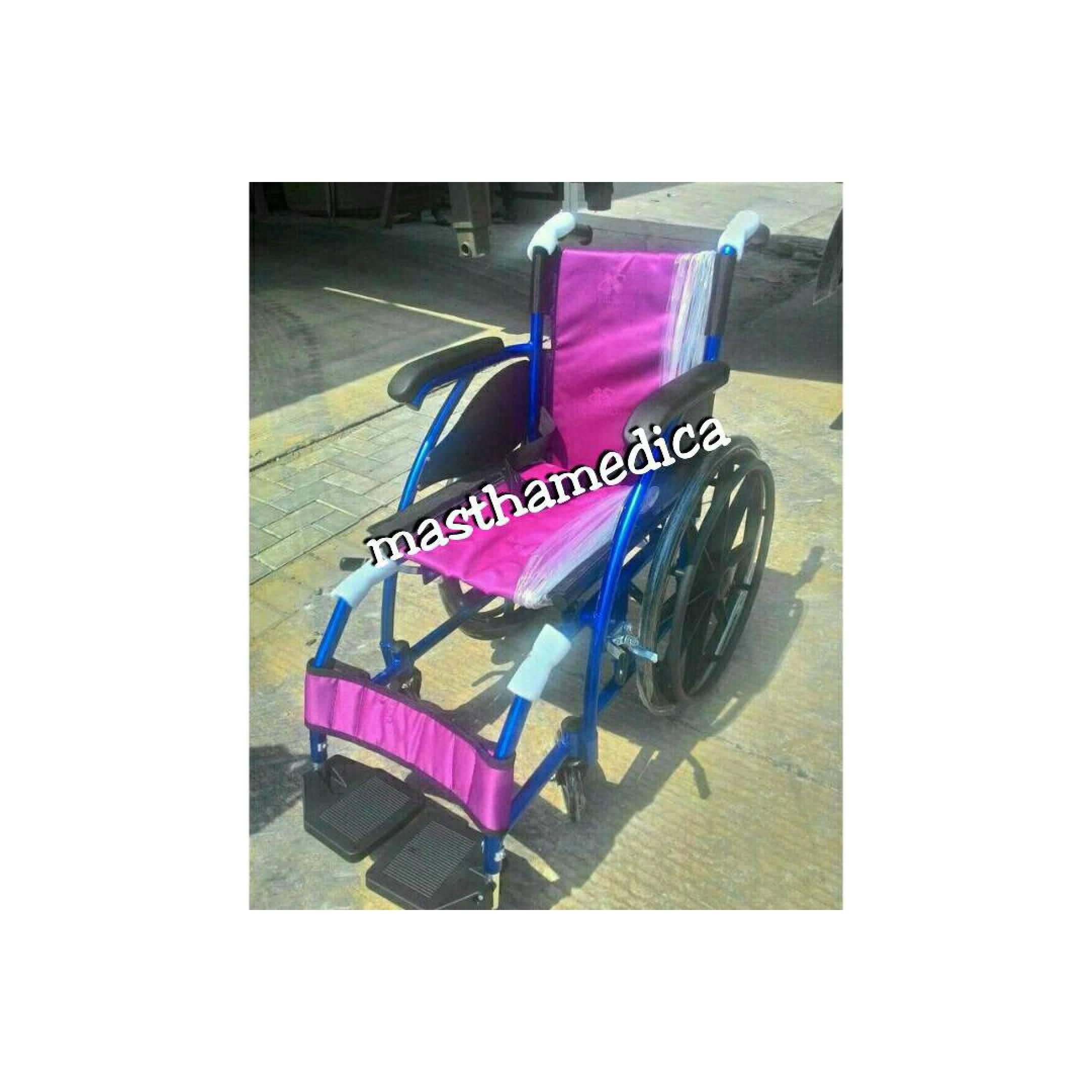 Kursi Roda 868 Anak Aluminium Biru Velg Racing Avico Murah