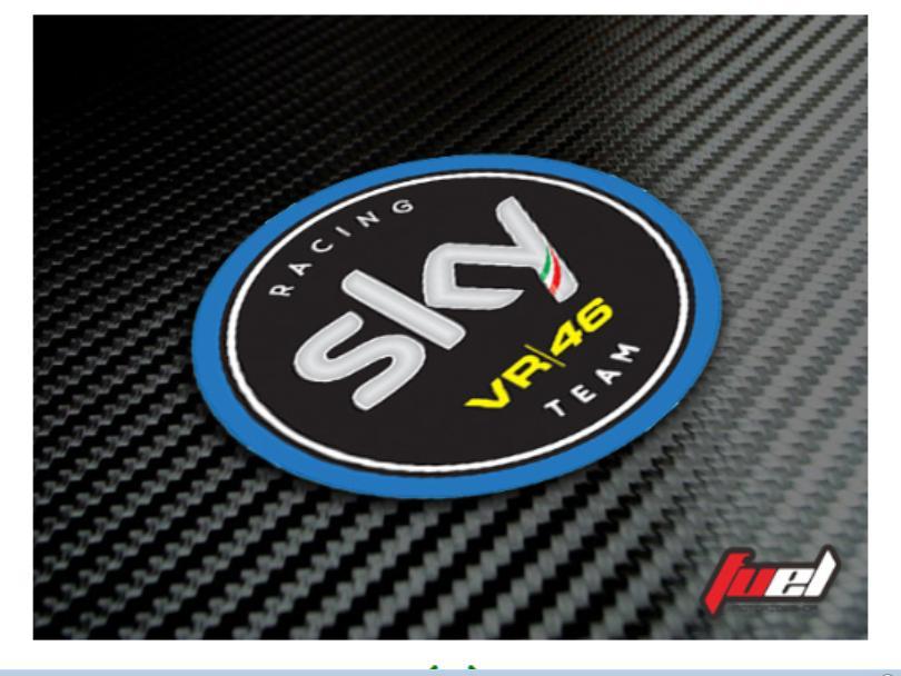Sticker/Stiker Motogp Sky Racing VR46 untuk Motor Helm AGV ARAI SHOEI
