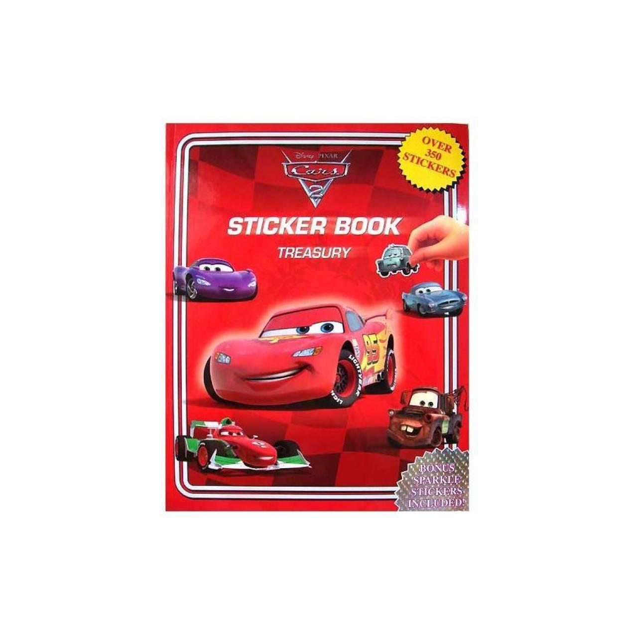 Sticker Book Treasury DISNEY PIXAR CARS (Red)