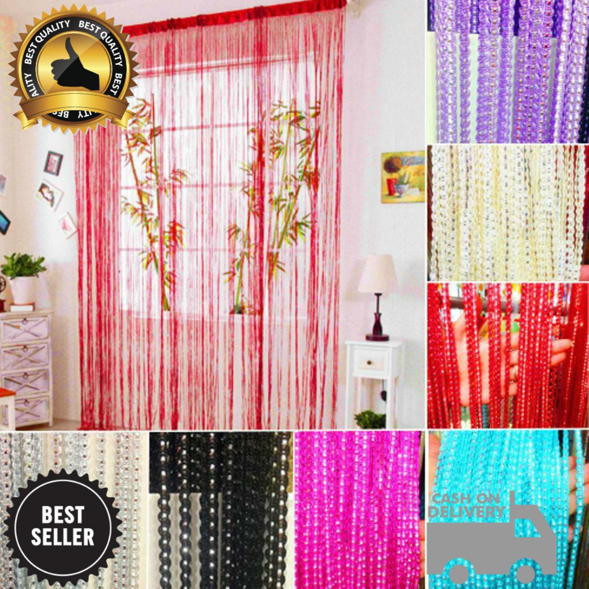 Big King Shop - Tirai Benang Motif Halus Fashion Dekorasi Warna Terbaru