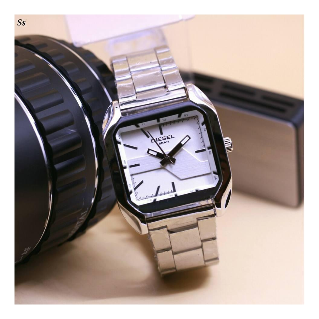 Jam Tangan Pria Diesel Elegant Ds 770 Stainless Steel Watch Strap Triple Time Rantai Fashion Polos D 0001