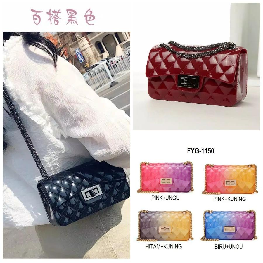 galery tas jelly gliter BISA BAYAR DITEMPAT jely silika jeli mini sling bag- Tas fashion 556fb7520f