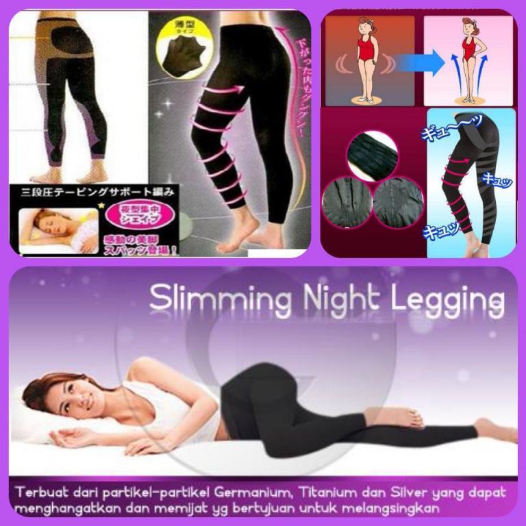 Slimming Night Legging Ukuran M - Pelangsing Perut Hingga Betis Alat Pelangsing Instan Legging Keta