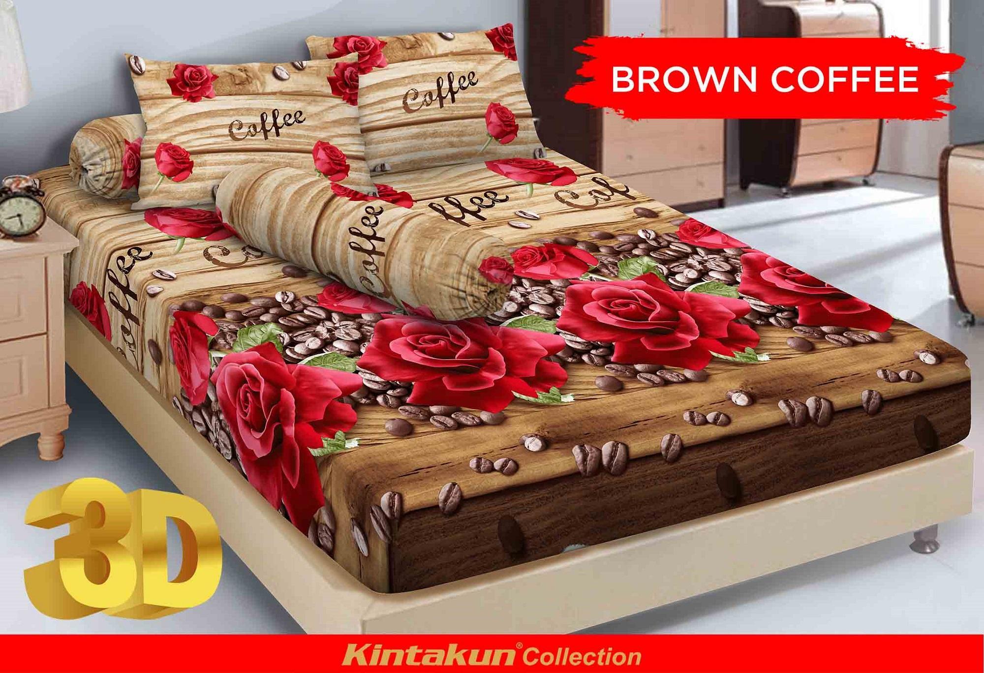 Alas Ranjang Berkualitas Murah Kintakun Luxury Sprei 180x200 B2 King The Royals Dluxe 180x200cm Brown Coffee