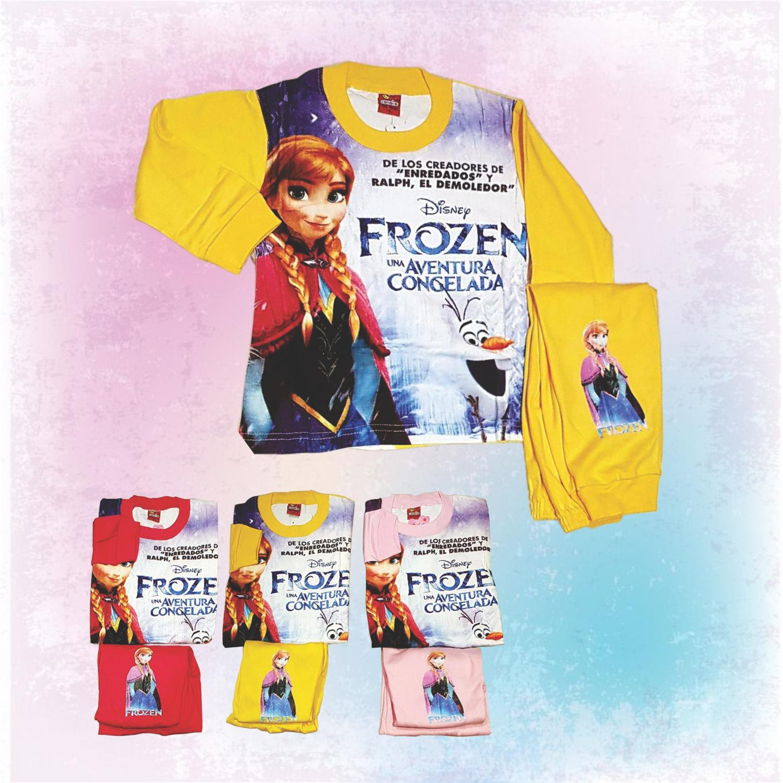 Baju Tidur Piyama Baju Tidur Anak Frozen Anna size 4-6-8