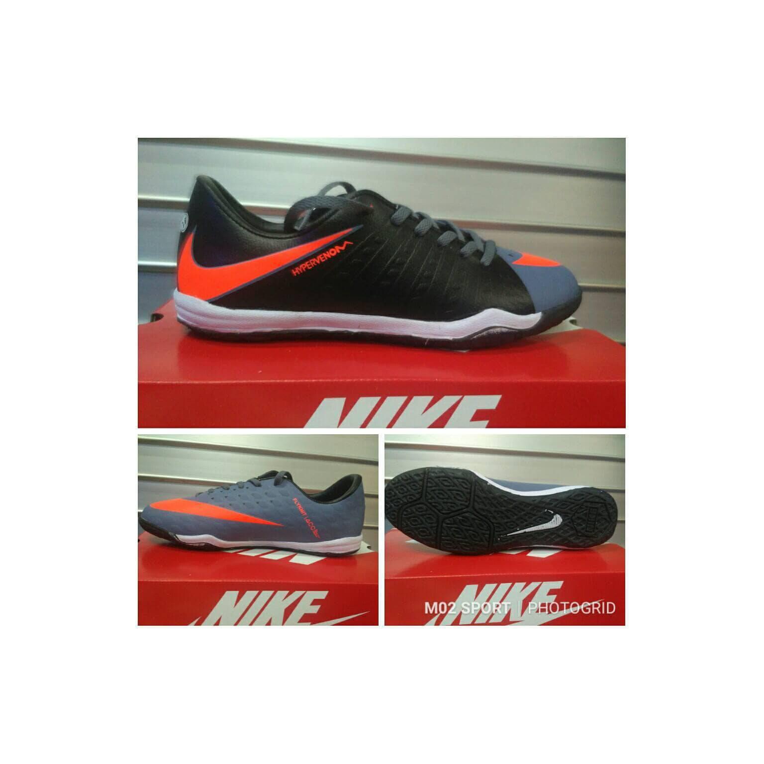 sepatu futsal Nike magista hitam kombinasi abu sol karet tebal