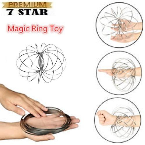 Magic Ring Mainan Sulap 7STAR Mainan Anti Stress Gelang Tangan - Gelang Tangan Ajaib Interaktif Stainless Steel 1Pcs
