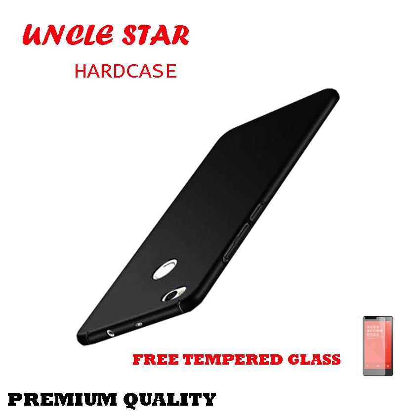 Uncle Star -Hardcase Case For Xiaomi Redmi 4x Prime Core Ultra Slim Shockproof Premium Matte elegan Free Tempered Glass