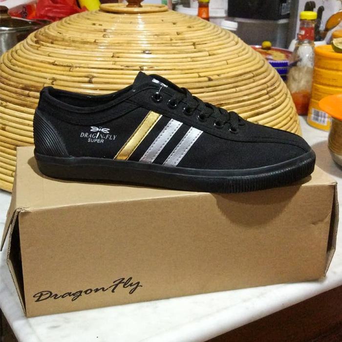 Sepatu DragonFly Hitam / Sepatu Capung Dragofly Amazon Hitam [37-43] - Putih, 37 - TwU5Rq
