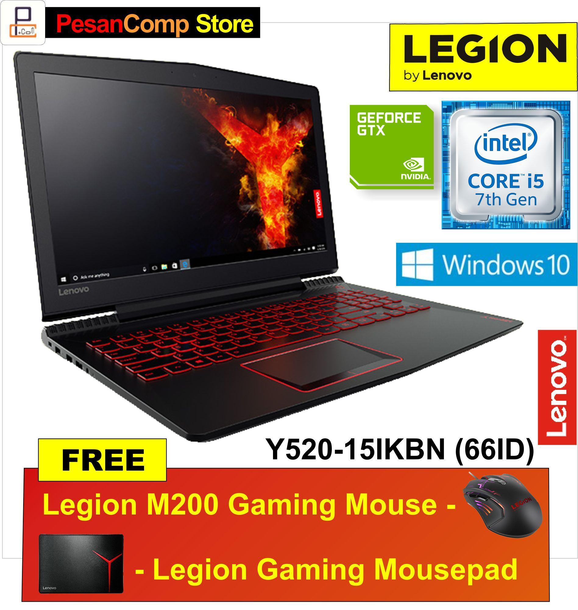 Lenovo Legion Y520 -15IKBN 66ID Intel Core i5 -7300HQ RAM 6GB NVIDIA GeForce GTX 1050 4GB Windows 10 Garansi Resmi Lenovo Indonesia + Triple Protection