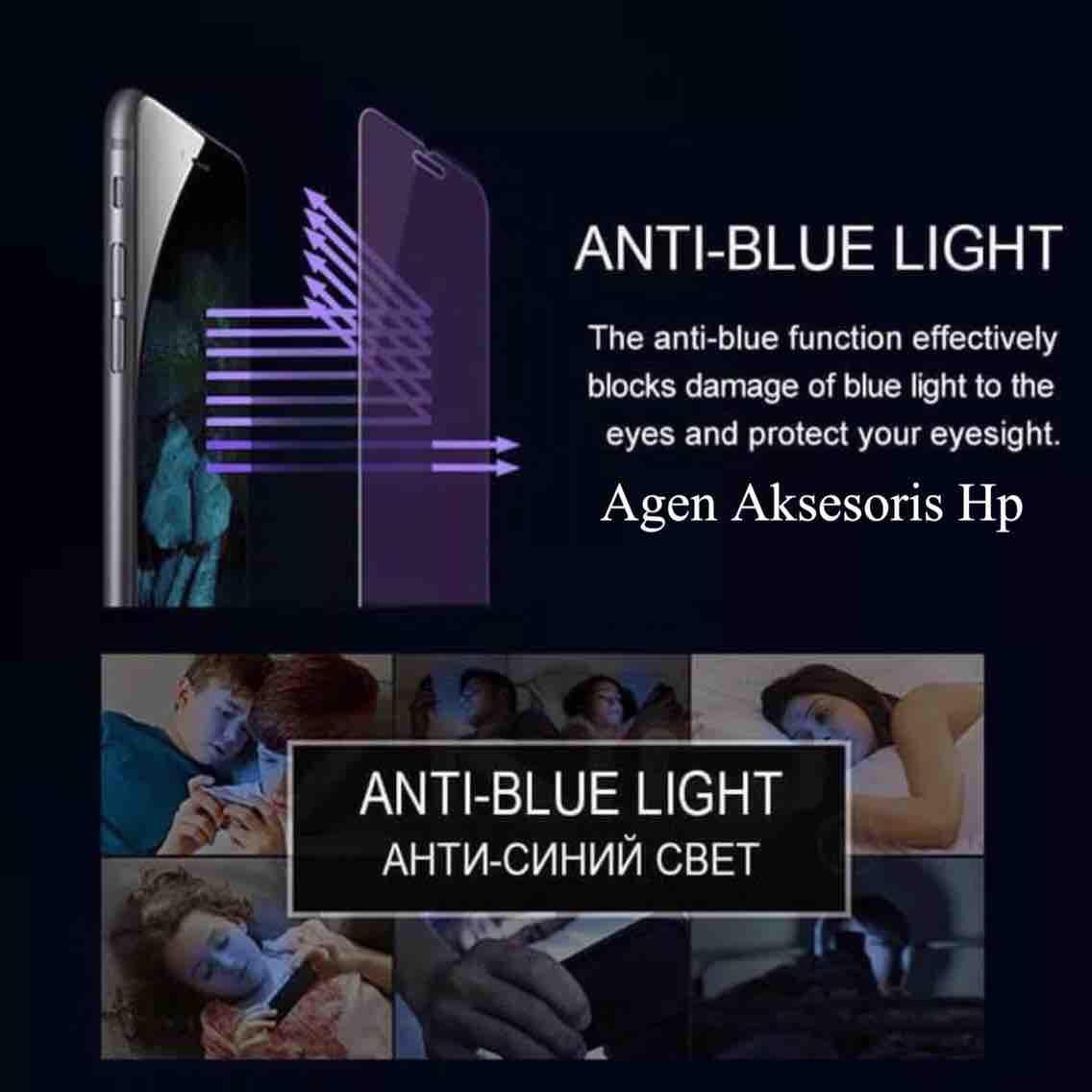 Anti Blue Light Tempered Glass Oppo Neo 9 5.0 inchi Screen Guard Oppo A37F A37 Anti Gores Kaca Anti Radiasi 2.5D 9H 0.3mm