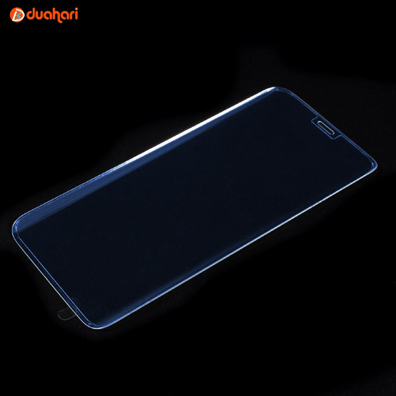 Tempered Glass Samsung Galaxy S8 Plus Blue Ray Transparent Anti Gores Screen Protector Pelindung La