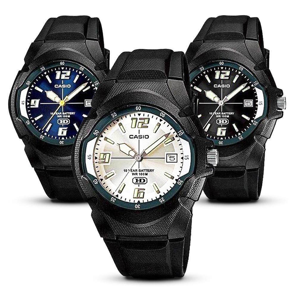 Casio - Jam Tangan Pria - Hitam - Karet - MW600F-2AVDF