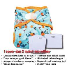 Ecobum Clodi Velcro PUL dengan 2 Insert Cloth Diaper Pocket Popok Bayi Premium (Insert birdy