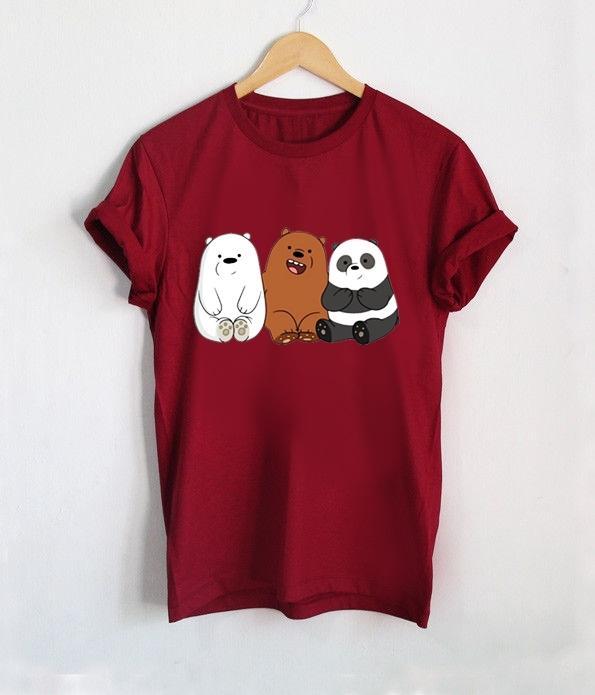 ELLIPSES.INC Tumblr Tee / T-Shirt / Kaos Wanita Lengan Pendek Bare Bears