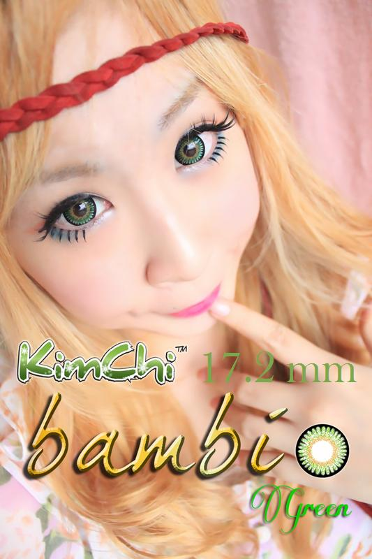 Promo Acessoris Warna Mata  Softlens Kimchi Bambi Green Hijau