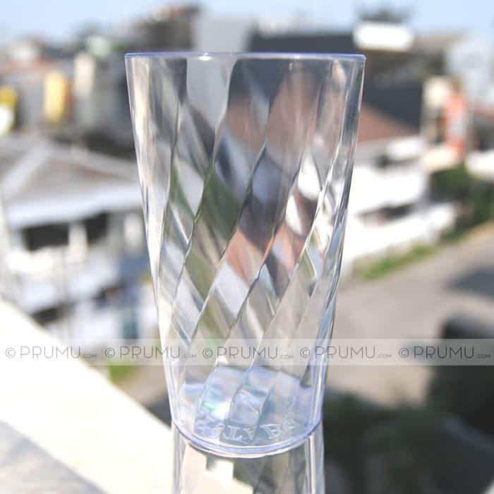 12 Gelas Plastik Bening ±400ml seperti Kaca Beling Gelas Acrylic