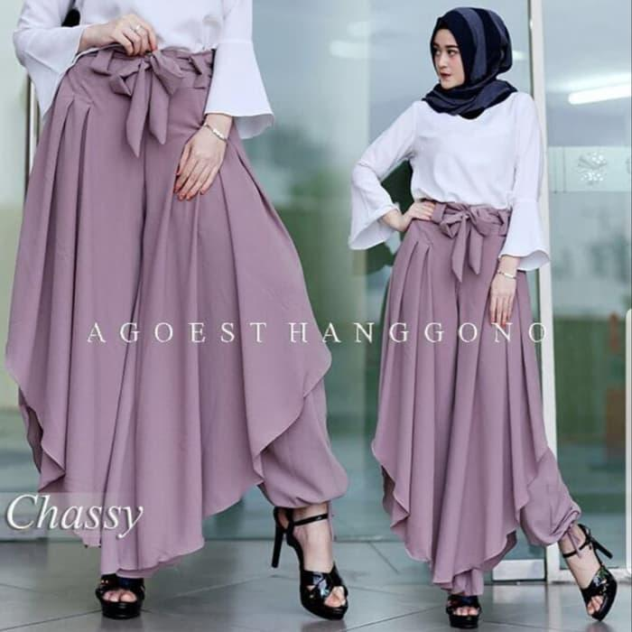 J&J Sale - [Pant Agoest Purple TL] Celana Wanita Buble ungu
