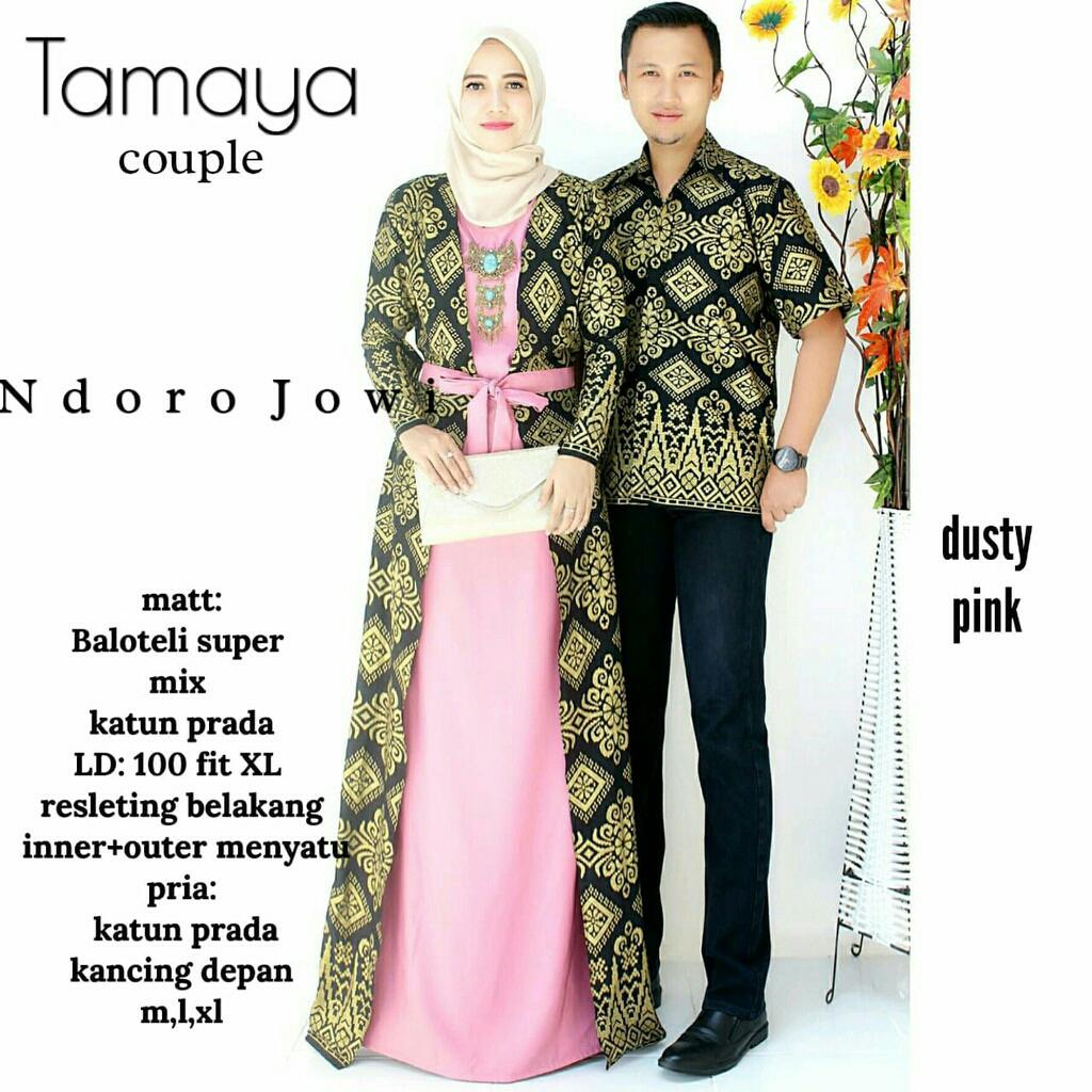 TERMURAH - Batik Couple - Couple Batik - Baju Muslim Wanita Terbaru 2018 - Batik Murah - Batik Sarimbit - Baju Batik Modern -Batik Kondangan - Batik Keluarga - Batik Pekalongan - Baju Batik Tamaya Couple