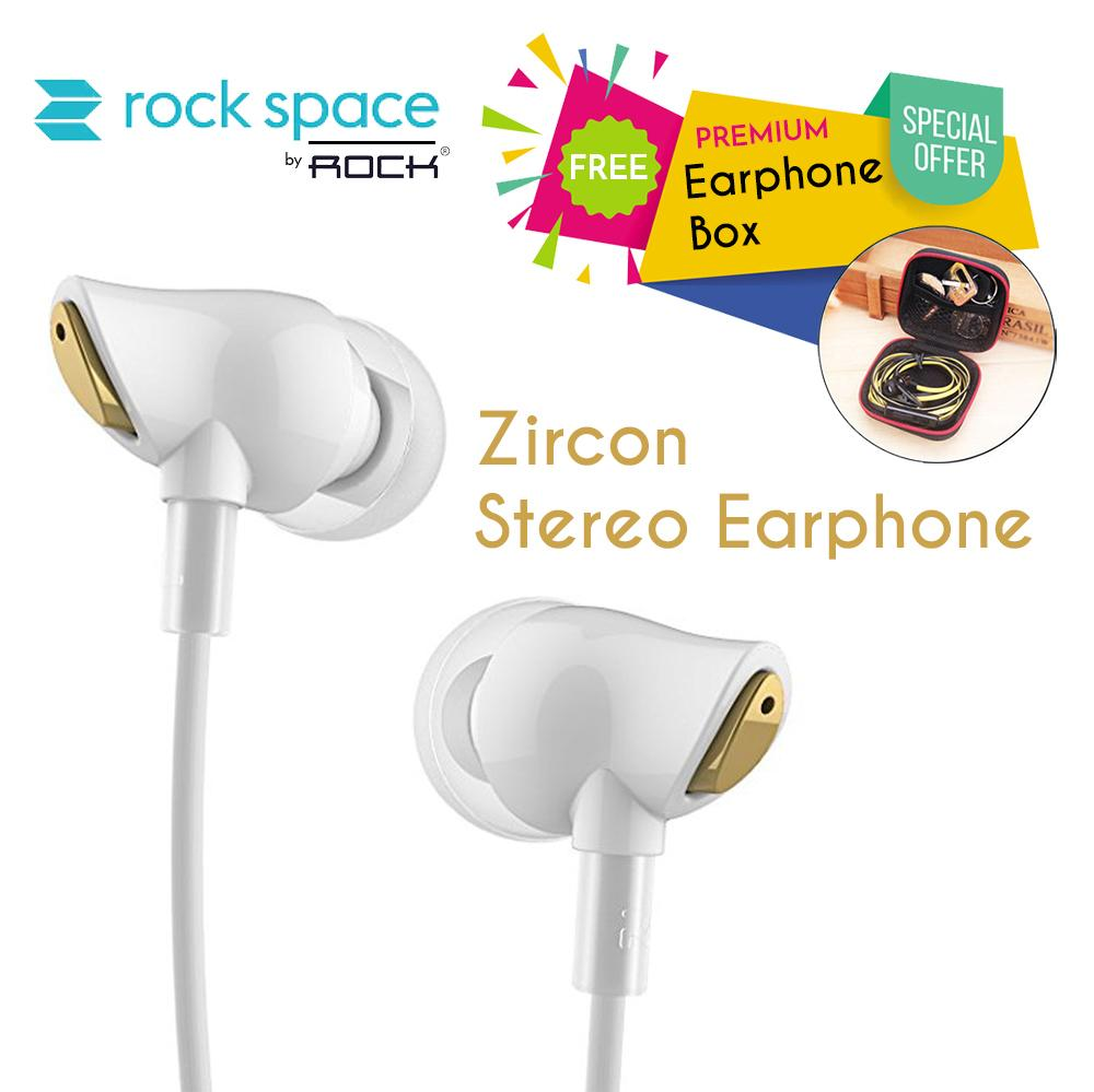 Buy Sell Cheapest Earphone Rock Nano Best Quality Product Deals Zircon Stereo Black Rockspace Hd Ultra Clear Earplug Dengan Iem Bass