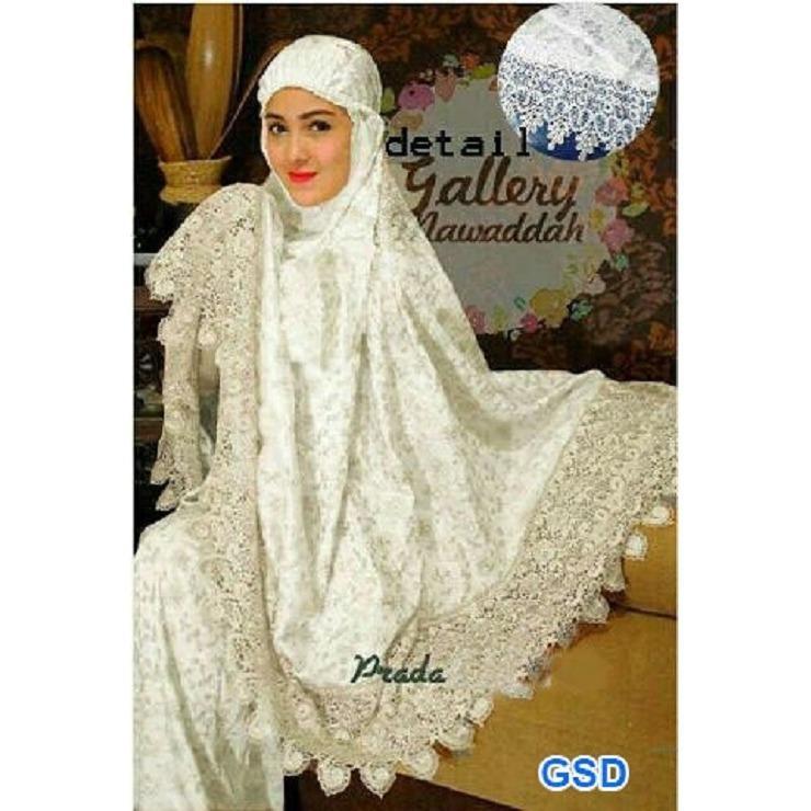 GSD - Peralatan Sholat / Fashion Muslim /Baju Wanita / Pakaian Sholat /Mukena Renda Prada