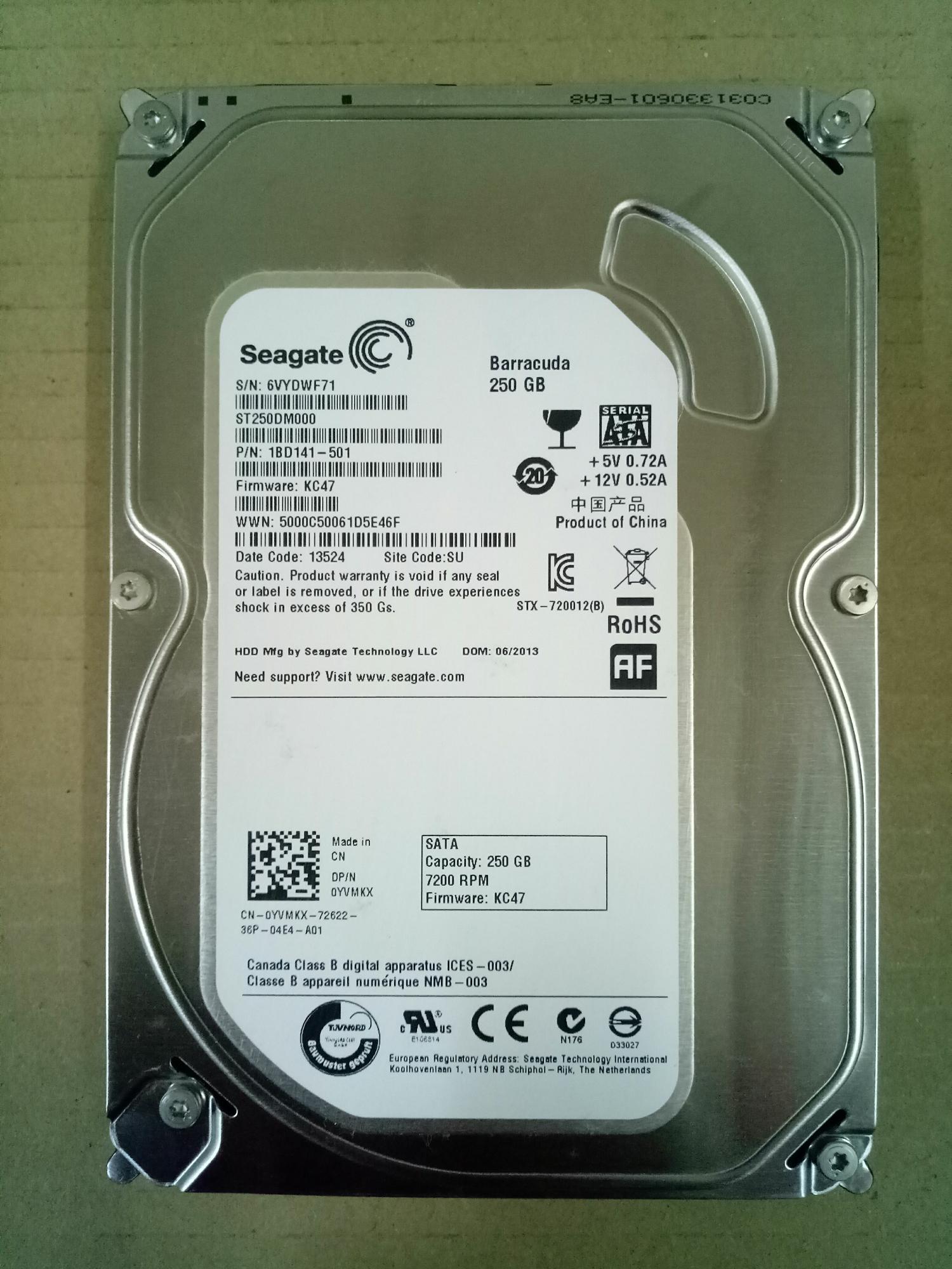 Harddisk Komputer 250gb sata 3,5