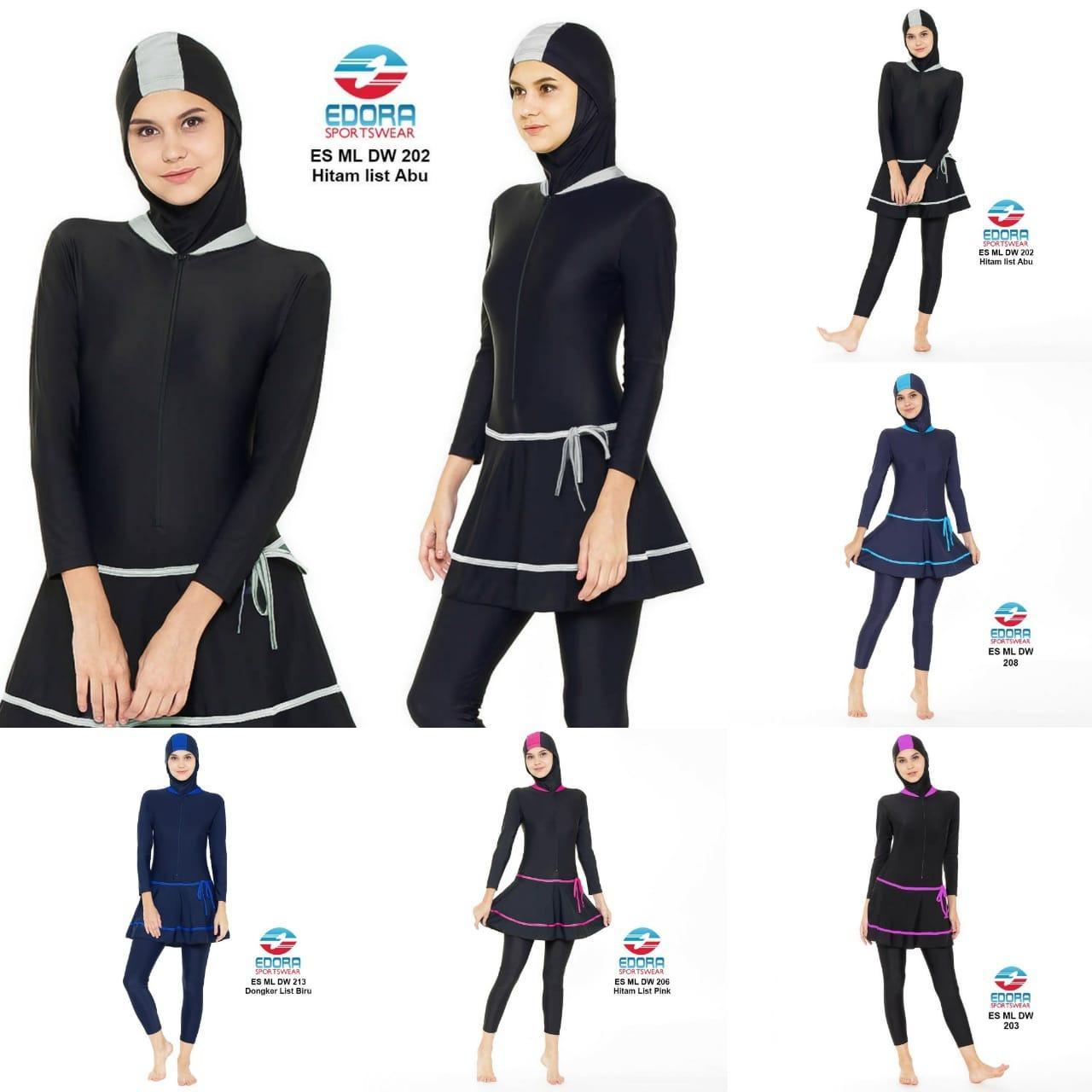 Edora Baju Renang Muslim dan Muslimah Wanita Dewasa ES ML DW