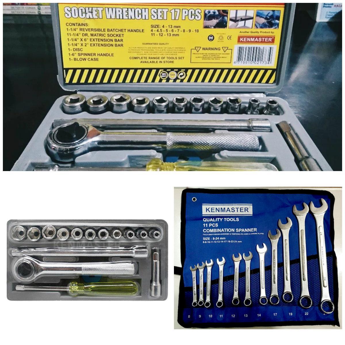 Kenmaster Kunci Ring Pas 11 Pcs 8mm 24mm Cek Harga Terkini Dan Set Combination Wrench Aizu 8 24 Mm 14pcs Paket Sok Sock 17