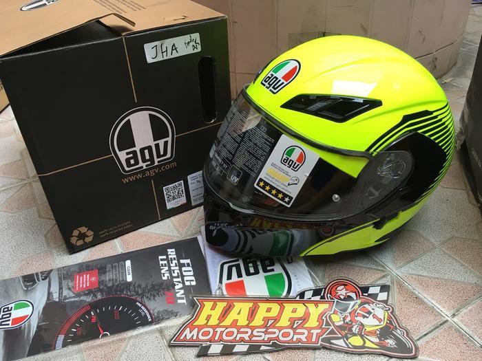 Helm AGV modular vermont yellow black glossy dual visor