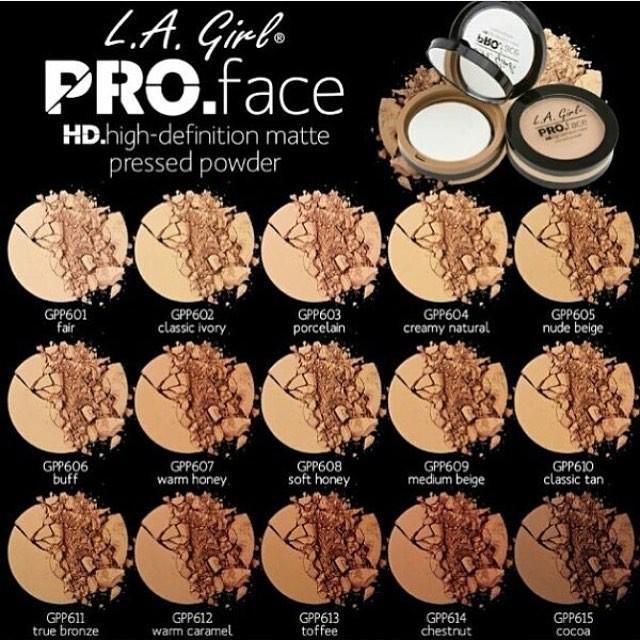 LA GIRL PRO FACE MATTE Pressed Powder (ORIGINAL 100%) , GPP601 FAIR