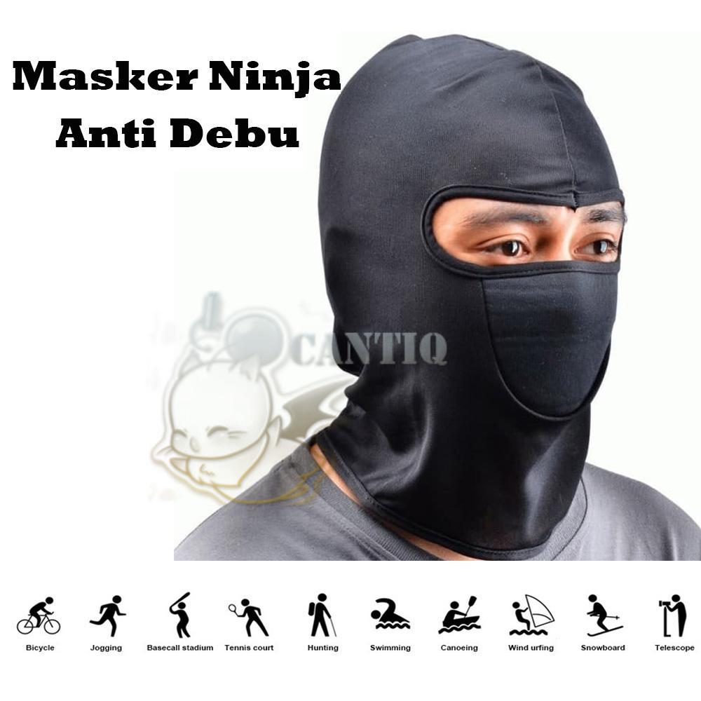 QCF Masker Anti Debu Sarung Kepala Helm Ninja Anti Debu Topeng Ninja Sepeda Motor Cover Pelindung