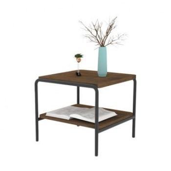 Meja Sudut Meja Coffee dengan Rangka Besi