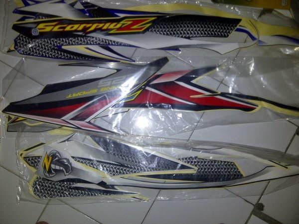 Stiker Motor / Stripping body Scorpio Z Tanya stok Dulu