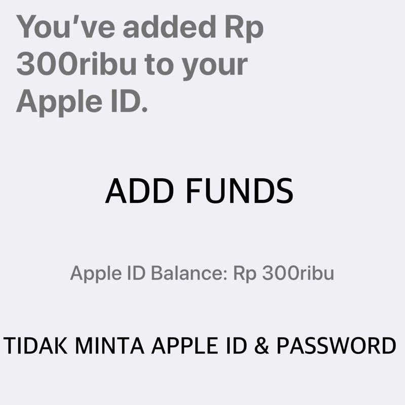 Itunes Gift Card Igc Deposit Rp. 300.000 Indonesia Metode Add Funds - Toko Igc By Toko Igc.