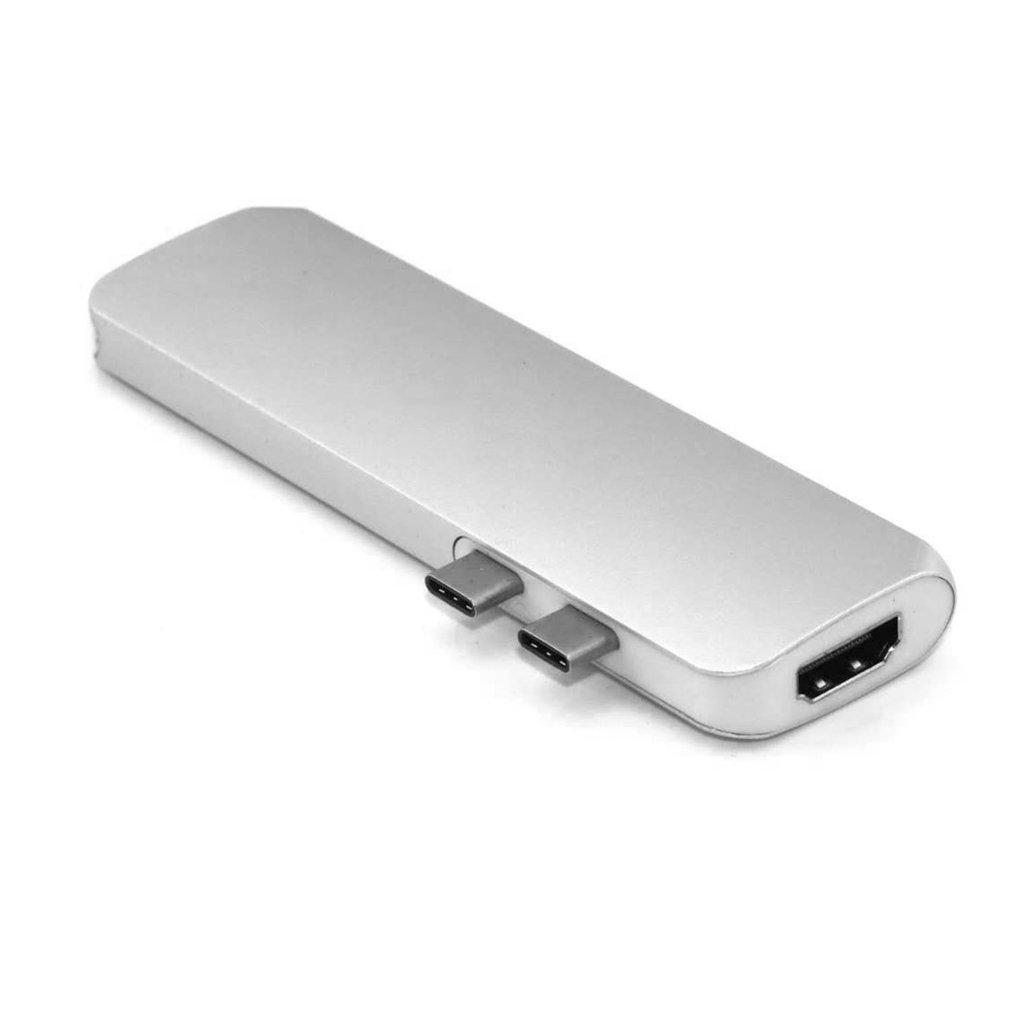 GOFT 7-in-1 Aluminum USB Type-C Port Pro Hub Adapter with Card Slot for MacBook Pro