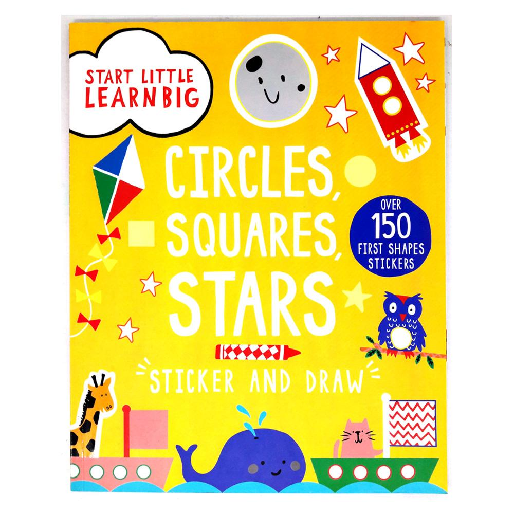 Genius Buku Anak Start Little Learn Big Circle, Squares, Stars Sticker and Draw with