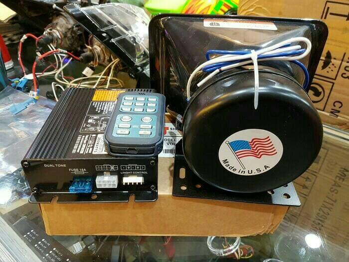 sirine / toa 200 watt usa federal signal | ( klakson motor mobil keong denso suara waterproof telolet hella polisi sepeda fer ) |