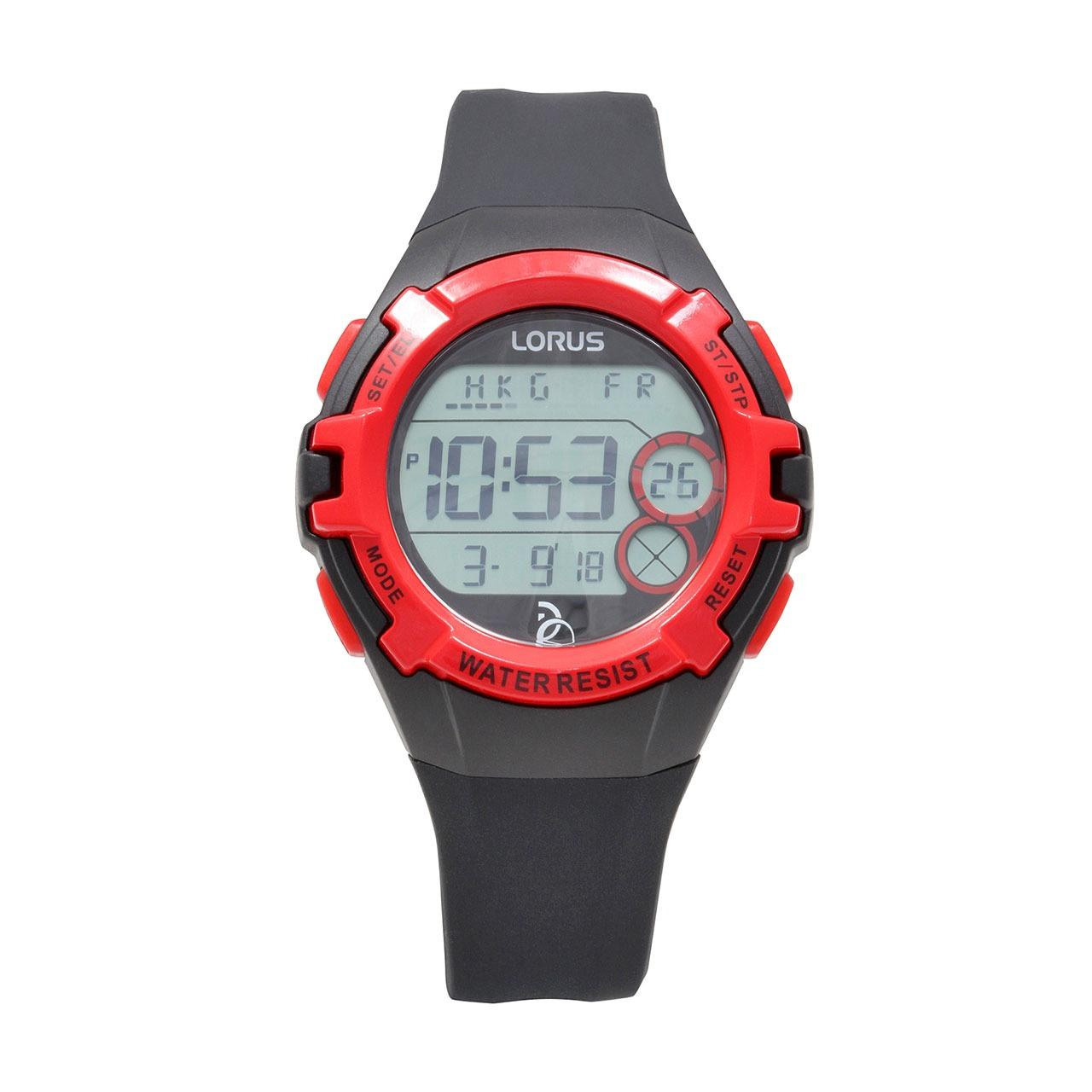 LORUS Jam Tangan - Black Red - Silicon - R2389LX9