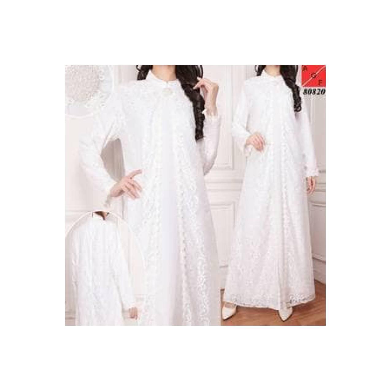 Gamis Putih Baju Umroh Baju Haji Baju manasik Busana muslim wanita