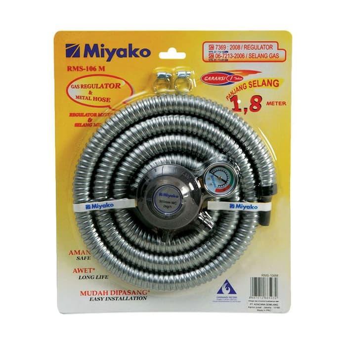 PROMO MIYAKO Paket Selang Regulator Gas + Meteran RMS-106M - Silver TERLARIS