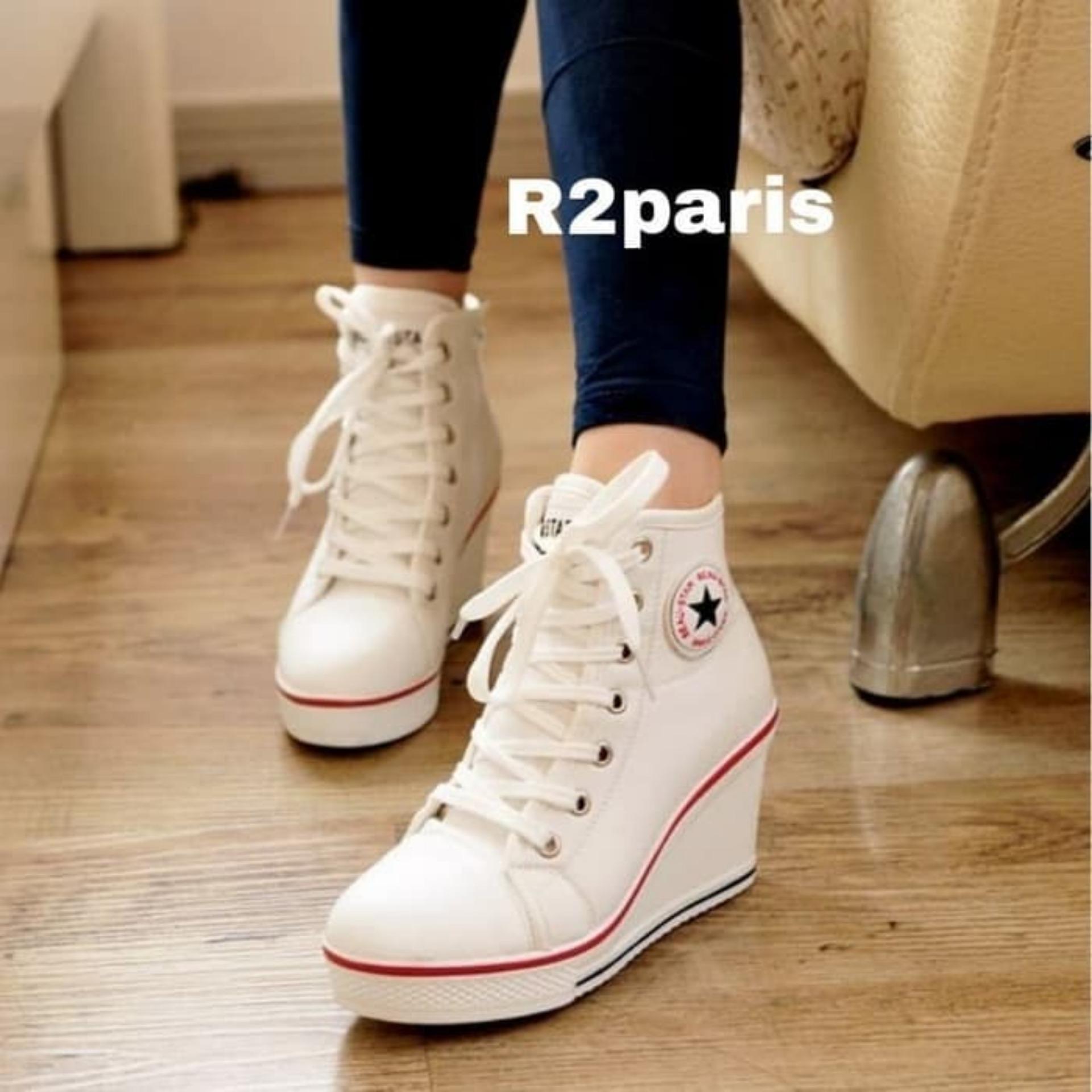 R2 Paris Sepatu Sneakers Wedges Cat Miau Putih - Update Daftar Harga ... 335717ef47