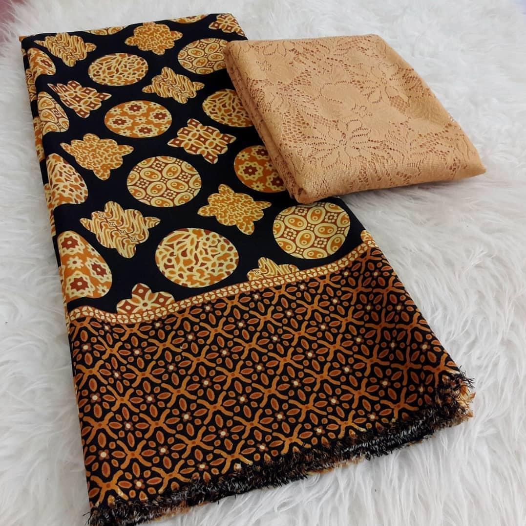 cherrykebaya - setelan kain satin batik omega dan brokat sofia bahan kebaya pengantin kebaya modern
