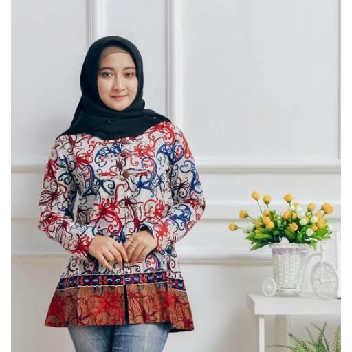 Katalog Harga Baju Batik Kantor Atasan Wanita Termurah - Batik Indonesia 7b65b3893c