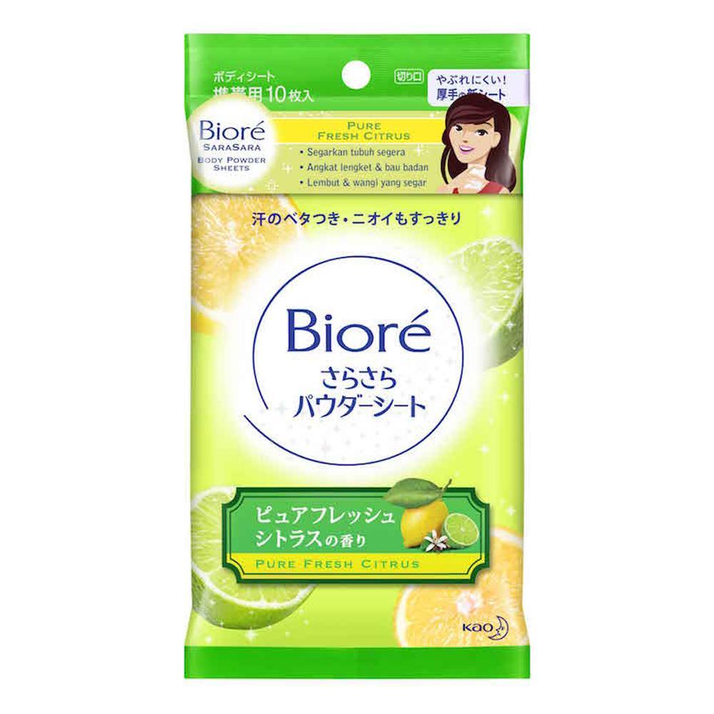 Biore Sara-Sara Body Powder Sheet Fresh Citrus By Lazada Retail Biore.