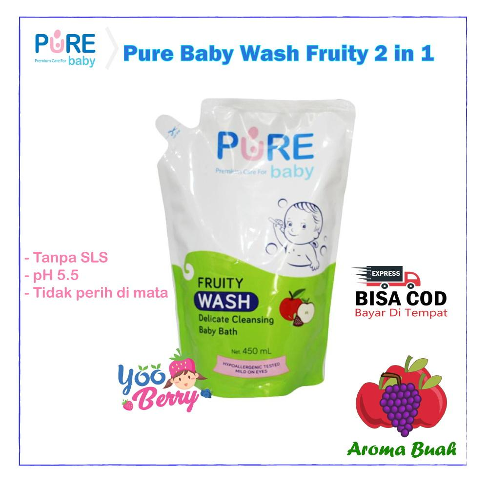 Buy Sell Cheapest Yooberry Pure Baby Best Quality Product Deals Shampoo Purebaby Refill 450ml 1 Get Free Fruity Wash Sabun Bayi Dan Anak Freshy 2 In