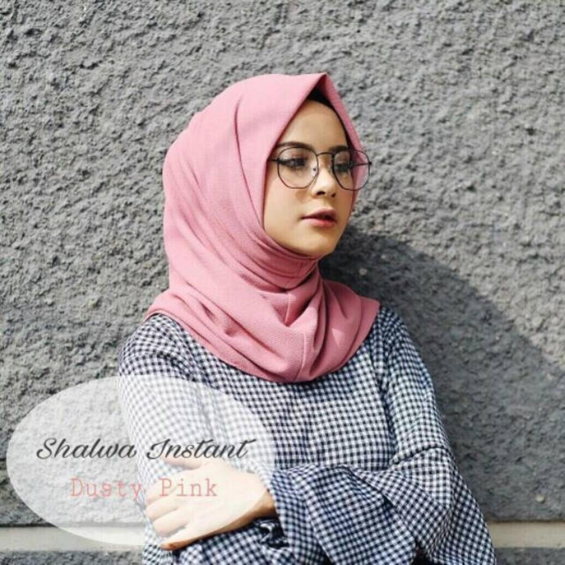 kerudung hijab instan salwa pink murah bisa bayar di tempat
