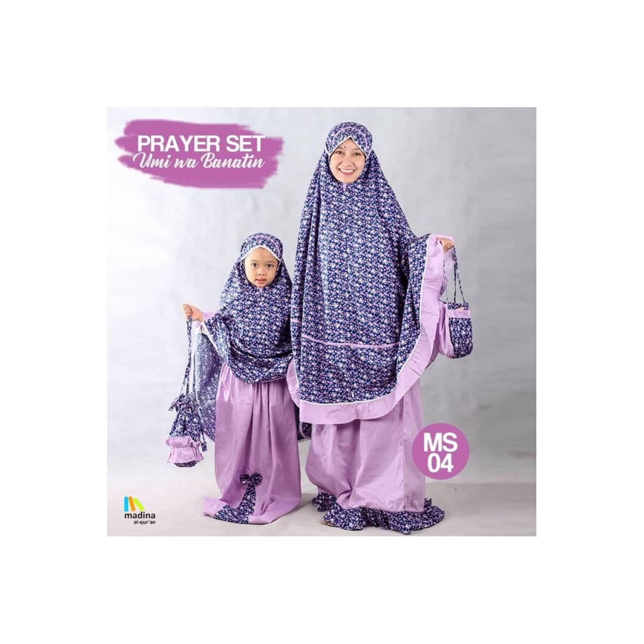 ( NEW )Sarimbit Mukena Kembar Ibu dan Anak PrayerSet Zhafira Madina - Tipe A