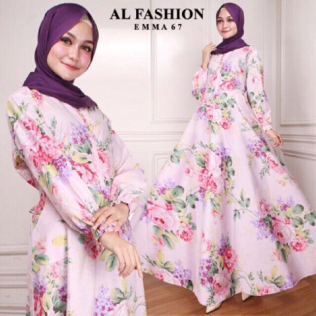AB Agen Baju Official Shop - maxi EMMA gamis busana jumbo muslim dan HIJAB party dress murah (EMMA 11 NAVY)